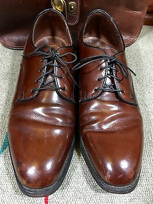 Vintage Bostonian Footsaver Men's Brown Leather Shoes Oxfords 8 D Made in USA