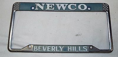 Vintage License Plate Frame - Beverly Hills NEWCO Volkswagen?? California