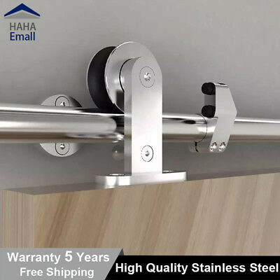 Country Style Stainless Steel 304 Sliding Barn Door Track Kit Closet Top Mounted