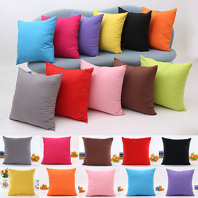 Pillow Case Cotton linen Cushion Cover Decor Square Home Throw Sofa Simple Solid