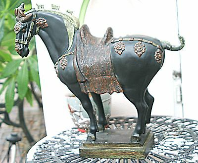 Tang Horse statue, Chinese horse sculpture 18 inches tall X 20 inches long