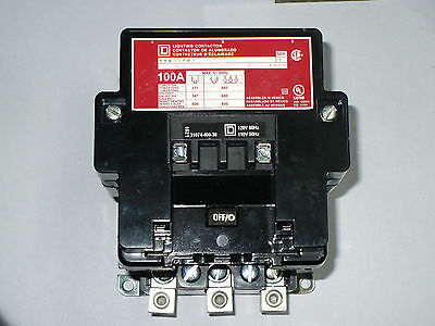 Square D 8903SQO2V02 Lighting Contactor, 100 Amp, 600 VAC, New in box