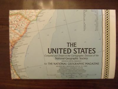 National Geographic Map Of The United States February 1968