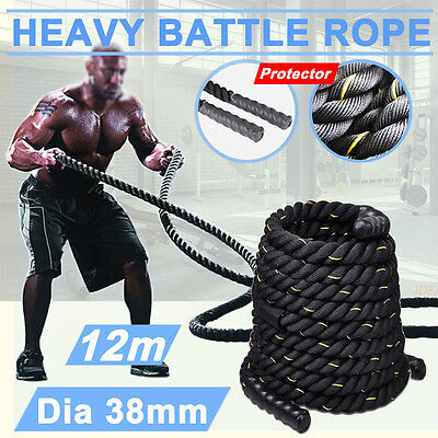 New 12M Battle Power Rope Battling Sport Gym Exercise Fitness Training Bootcamp