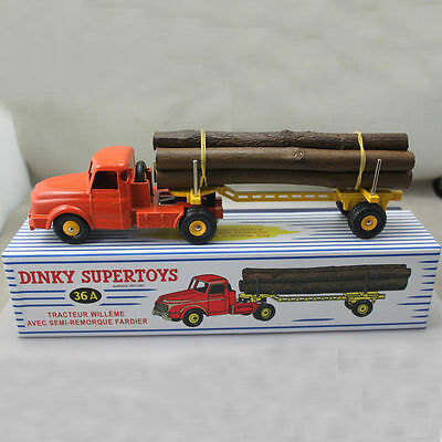 1:43 Diecast Dinky Atlas Toys 36A Tractor Trailer Willeme Float Log truck