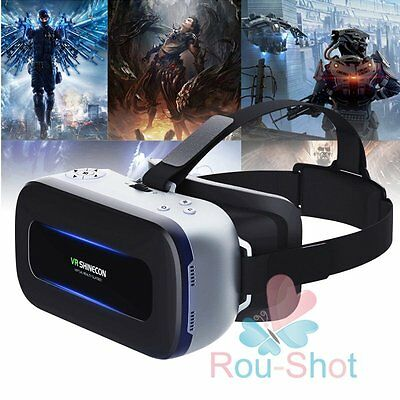 "VR Shinecon 3D All in One Machine HD 5.5"" 4K Video Glasses WIFI Bluetooth【AU】"