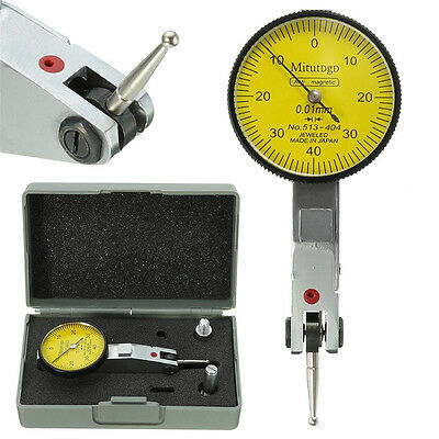 Metal Dial Gauge Test Indicator Precision Metric + Dovetail Rails 0-40-0 0.01mm