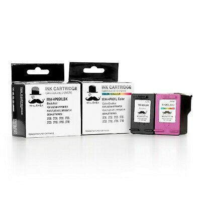2PK Black & Tri-Color ink for HP 65XL 3720 3722 3723 3730 3732 3752 3755 3758