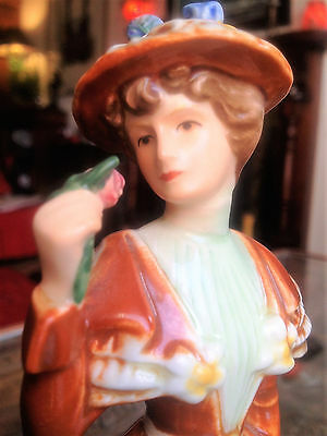 "Goebel Figurine ""The Visitor 1894,"" Fashion on Parade 1984/8, 21cm/8.1/4in, vgc"