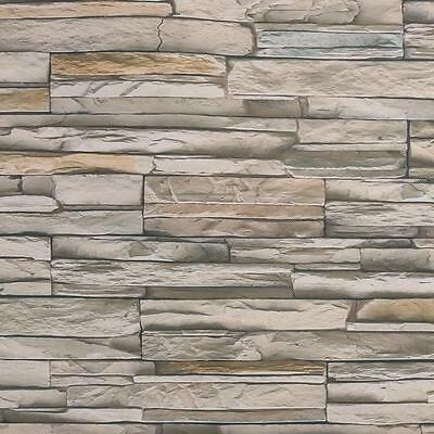 3D Wallpaper Bedroom Living Roll Mural Modern Faux Brick Stone Wall Background /