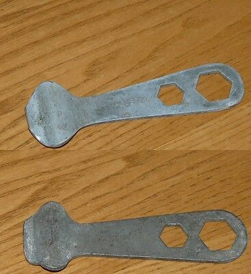 2 Vintage Bicycle Tire Levers -  Multi Tool Wrenchs - CCM & Majestic Tools