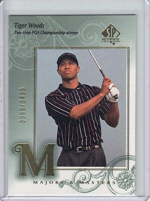 2002 SP Authentic Majors & Masters #137 Tiger Woods 3368/3499