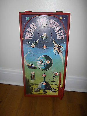 Vintage Retro Chad Valley Man In Space Bagatelle Game-c.1950`s