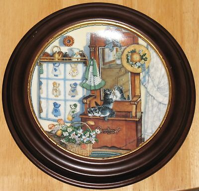 "Collectable  Cat Plate  Knowles ""mirror Mischief"""