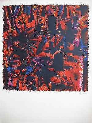 Manessier Alfred Lithographie Signée Crayon Num/80 Handsigned Numb/80 Lithograph