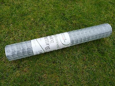 Wire Netting 50m Galvanised Chicken, Rabbit, Garden DIY Mesh Fencing 30m x 60cm