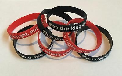 Motivational Quotes Bracelet (BLACK) Personal Development Wristband GYM-PAK