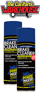 ? Power Maxed Brake Cleaner 500ml TWO  Large Cans pair / 2 degreaser clutch ?