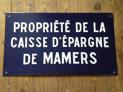 Original Vintage French Enamel Street sign French Bank sign 50 x 30cms