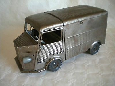 Vintage rare French JRD Tinplate Citroen HY 1200 Van corrugated type to restore