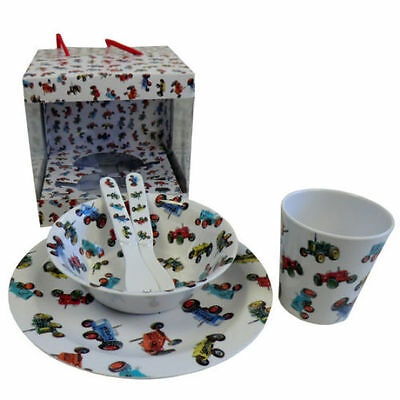 New Melamine Tableware 5pc Dining/Gift Set from Powell Craft - Farmyard Tractor
