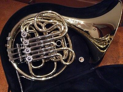 Meister Hans Hoyer F/Bb Double French Horn Model 801 - Made in Germany.