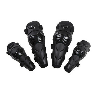 4xAdult Elbow Knee Shin Armor Guard Vents Pad Protector Gear for Motorcycle Bike