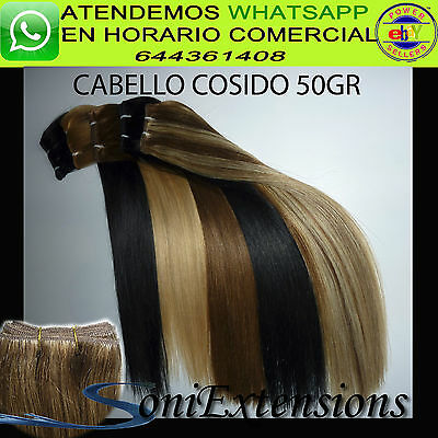 Extensiones Lisa Cortina / Manta/cabello Cosido 50Gr  Cabello 100% Natural Remy