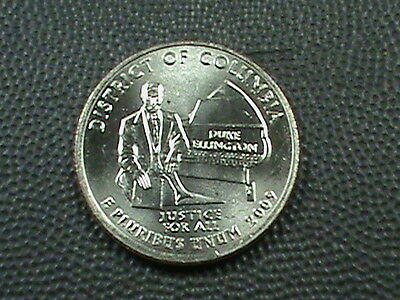 UNITED STATES  25 cents  2009  -  D  BRILLIANT UNCIRCULATE  , DISTRICT  COLUMBIA