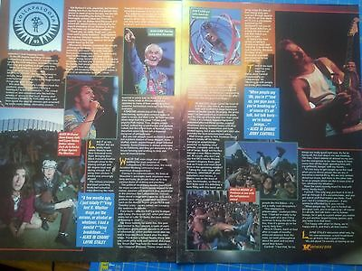 Lollapalooza 93 Kerrang 6 Page Review Alice in Chains Fishbone Tool Rage Primus