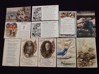 Collection Of 11 Postcards from the 1940s SECOND WORLD WAR 2 Military Troops