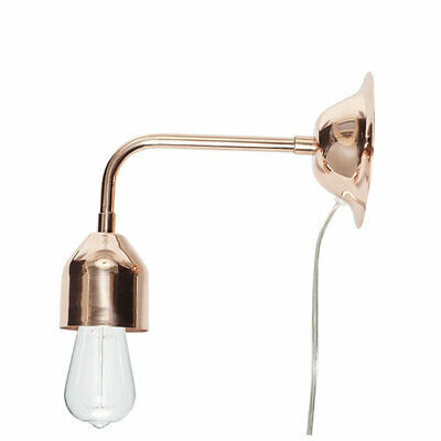 Modern Small Sconce Wall Lamp Copper Danish Design by Hubsch