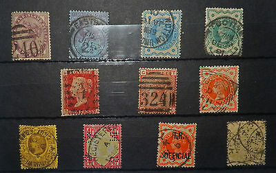 A collection Great Britain stamps, Queen Victoria1880/87, used not hinged, #37.