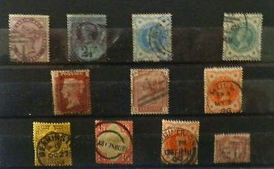 A collection Great Britain stamps, Queen Victoria1880/87, used not hinged, #39.