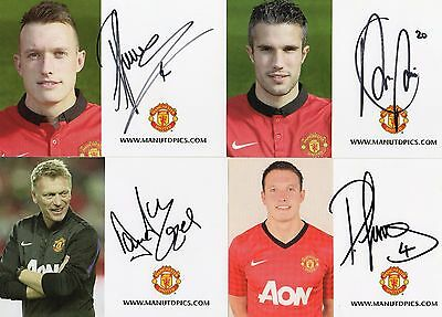 8 Authentic Signed Manchester United Club Cards Real Signatures..mufc...coa