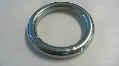 "WELDED METAL O RINGS 2"" - 50mm PLATED FINISH  20RNG38P"