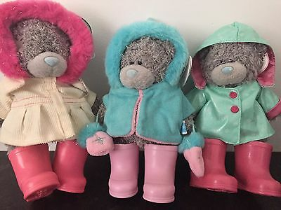 "TAGGED RARE 2 x 7"" STANDING ME TO YOU TATTY BEARS - HOODY JACKETS & PINK WELLIES"
