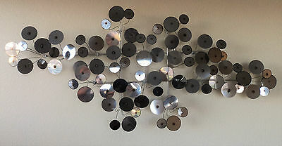 Mid Century Stainless C Jere Style Raindrops Sculpture By Corey Ellis Art