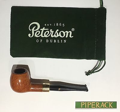 RARE Peterson Pipe GOLD Mounted Army No. 86 Fishtail NEW Free Pipe Tool