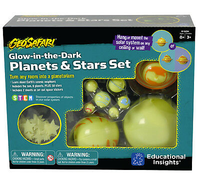 Learning Resources Glow in the Dark Solar System - Hanging Solar System Toy NEW
