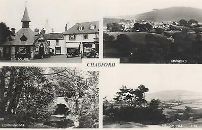 Vintage real photo multi-view postcard of Chagford