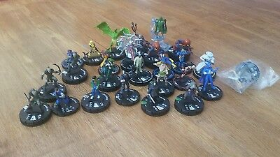 Heroclix lot including Red Skull and Star-Lord with cards