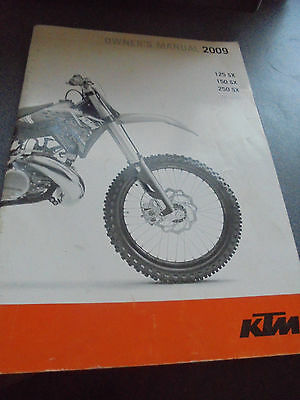 Ktm  125 Sx 2009 Owners Manual