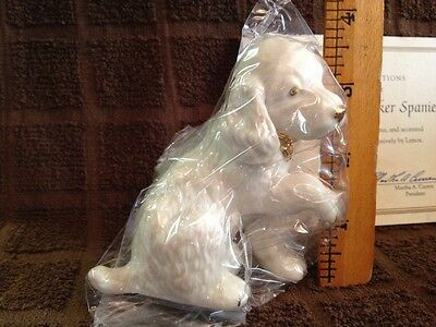 Lenox Classic Ivory Dog Collection COCKER SPANIEL Puppy Shaking Hands Figurine
