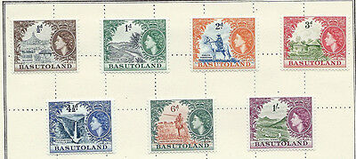 BASUTOLAND QEII 1954 - SG 43 to 49 - SEVEN VALUES to One Shilling. - MINT Hinged