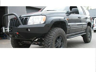 Jeep Grand Cherokee Wj 99-04 Front Steel Bumper Winch Off -Road