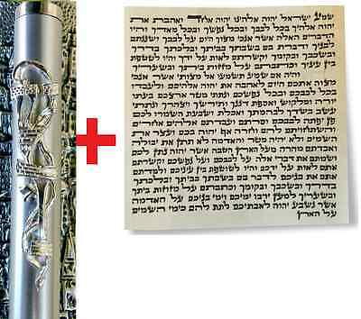 "Kosher MEZUZAH + KOSHER SCROLL from Jerusalem Israel 10"" 25cm Authentic"