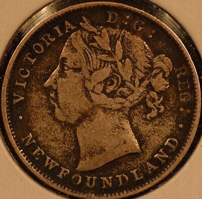 Newfoundland 1899 20 Cents KM#4 Very Good