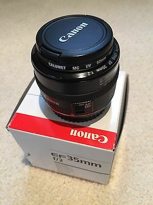 Canon EF 35mm f/2 Lens - Immaculate Condition
