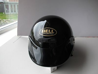 Bell Custom Gr1000 Open Face Vintage Motorcycle Helmet - Gloss Black.